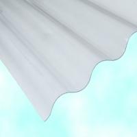 Лист ПВХ Salux W 76/18 2*0.9, прозрачная волна