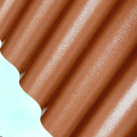 Лист ПВХ Salux WBS 76/18 2*0.9, коричневая волна