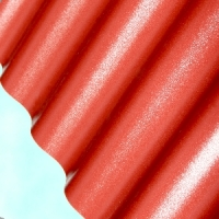 Лист ПВХ Salux WBS 76/18 2*0.9, красно-кирпичная волна