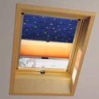 Плиссированная шторка  ZFA для окна Roto Designo